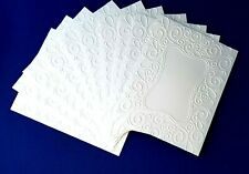 10 SCROLL FRAME White Embossed A2 Card Fronts Recollections Cardstock Paper