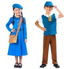 Costumi e travestimenti blu in poliestere per carnevale e teatro per bambini e ragazzi da Perù