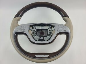 Mercedes Benz S550 Steering Wheel Leather Multifunction Beige 2016 A0024605003