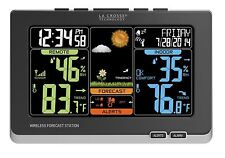 C83349 Wireless Color Weather Station Black Outdoor Temp Humidity By La Crosse