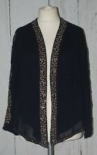 BNWT, Monsoon, Ladies, Navy, Light, Artisan, Party, Top, Cover, size 14 (42)