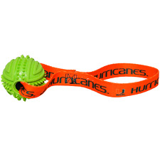 NEW MIAMI HURRICANES RUBBER BALL TUG TOSS DOG TOY LICENSED