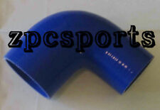 """2.5"""" To 3"""" Inch 90 DEGREE Silicon Pipe Bending Coupler Hose Turbo 5mm 4Ply Blue"""