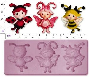 FAIRY / FLUTTERBUGS Medium Craft Sugarcraft Fimo Sculpey Silicone Rubber Mould