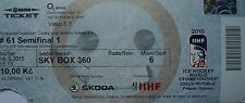 TICKET Sky Box Eishockey WM 16.5.2015 Tschechien - Canada in Prag