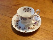Vintage Royal Albert English Bone China Tea Cup and Saucer, Lorraine Pattern NR