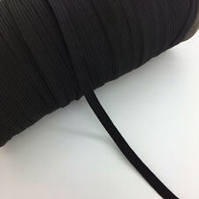 "5yds 1/4"" 6mm Black Thickening Satin Elastic Band Trim Sewing Spandex Lace"