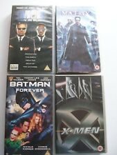 MEN IN BLACK BATMAN FOREVER X-MEN THE MATRIX VHS PAL 4 CASSETTES **GC**