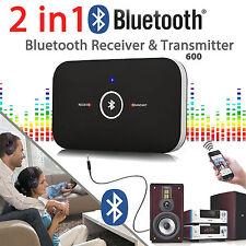 HIFI Wireless Bluetooth 2in1 Transmitter Receiver 3.5mm A2DP Audio Music Adapter