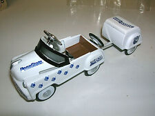RARE Die Cast Metal PEDAL POWER Toy Car With Trailer PENN STATE NITTANY LIONS