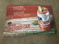 "TECATE ORIGINAL BEER 18"" X 12"" WOODEN SIGN NEW!"