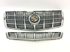 2013-2014 Cadillac CTS Front Upper & Lower Grille Set includes Emblem OEM