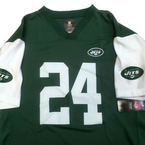 NFL New York Jets Youth Boys Jersey 2 Sided #24 Darrelle Revis XL (18/20) Green