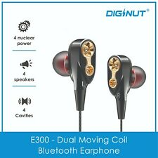 Diginut E300 - Dual Moving Coil Bluetooth Earphone - Bass - Stylish - DIGINUT