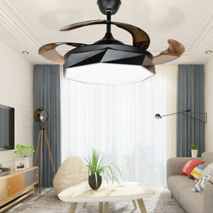 """Ceiling Fan w/ LED Light 42"""" Home Decor Macaron Modern Style 3 color Temperature"""