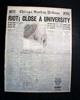 DES MOINES UNIVERSITY (1865-1929) Iowa Religion Riots & Closure 1929 Newspaper