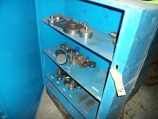 Heavy Steel Cabinet With Some Punching Press Dies