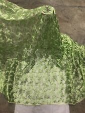 """Green Metallic embroidery Lace Fabric 50"""" Width Sold By The Yard"""
