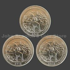 2012-P, D & S Denali National Park Quarter- Choice BU (3 Coin Set)