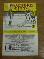 05/09/1962 Bradford City v Doncaster Rovers [Football League Cup] . Faults with