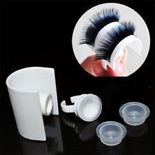 Extension Tool Grafting Eyelash Pallet Glue Ring Eye Lash Holder Makeup Kit