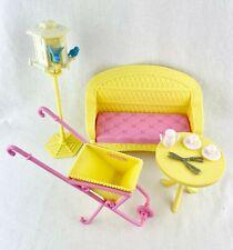 Barbie SUMMER GARDEN Playset 1998 Birdhouse Accessories ~ bluebirds good 4 OOAK