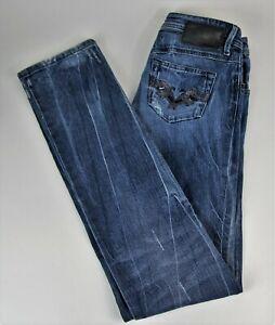 Diesel Newz Stretch Blue Jeans W26 L34 Denim Hose Blau Baumwolle Wash 0085V
