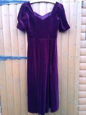 Vintage Laura Ashley Claret Red Velvet Body Corset Medieval Victorian Dress 16