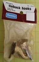 Kenney decorative brass tieback hooks