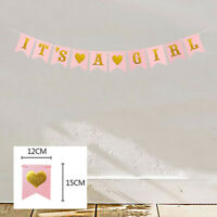 Its A Girl/BOY Baby Shower Banner Pink Paper Decorations Party Supplies Baby