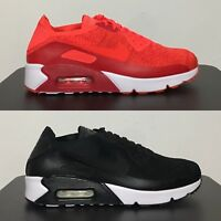Nike Air Max 90 Ultra 2.0 Flyknit Black White / Bright Crimson [ 875943 ]