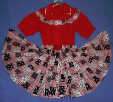 Mexican dress 2-piece skirt/blouse-8-10;Cinco de Mayo costume;Square Dance;rose
