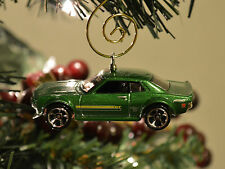 '70 '71 '72 Toyota Celica GT Metallic Green Custom Christmas Ornament 1/64th