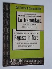 LA TRAMONTANA - Antoine Pettenati + I Ragazzi della via Gluck ... Spartito sheet