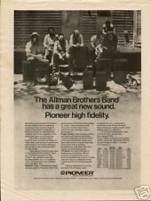 1974 ALLMAN BROTHERS BAND FOR PIONEER HIGH FIDELITY AD