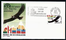 ESPAÑA SOBRE 1º DÍA 1985 2778 PACTO ANDINO. AVES