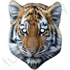 Tiger Animal Mask Card Mask - All Our Masks Are Pre-Cut!