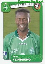 339 PASCAL FEINDOUNO FRANCE AS.SAINT-ETIENNE FC.SION STICKER FOOT 2005 PANINI