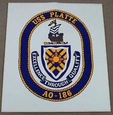 US Navy Decal - Sticker - USS Platte AO-186