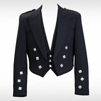 "Prince Charlie Kilt Jacket With Waistcoat/Vest - Sizes 36""-54"" R,S & L Sizes"