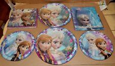Disney Frozen Princesses Party Table Cover 16 Napkins Paper Plates 16 sm/lg 163W