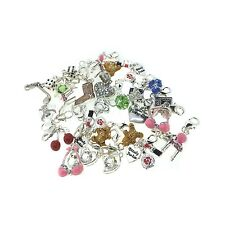 Wholesale Job Lot Alloy Silver Plated Clip On Lobster Clasp Charms Beads