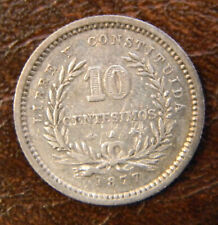 Uruguay 10 centesimos 1877A; K-14