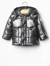 GAP Baby / Toddler Boy 12-18 Months NWT Silver Warmest Puffer Quilted Jacket