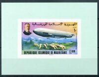 451150) Mauretanien Block mit Nr. 540 B **, Zeppelin