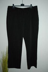 GRANDIOSA | stretchige Hose mit Nadelstreifen Stretchhose | Gr. 48 50 XXL XXXL
