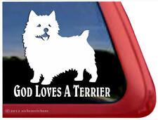 God Loves a Terrier ~ Norwich Terrier Window Decal