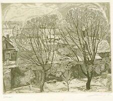 "Original Etching ""Frost"" by NIKIREEV STANISLAV (1932-2007) Russia"