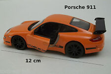 voiture miniature Porsche 911 orange ,à friction, jouet,collection,car,auto