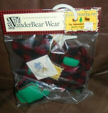 VanderBear Wear Muffy Adirondack Collection Pinafore, Winter Coat, Shoes  NEW